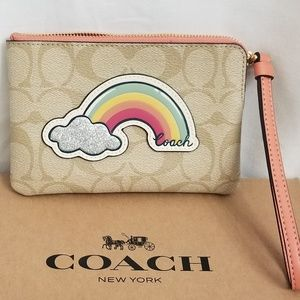 Coach wristlet small Rainbow